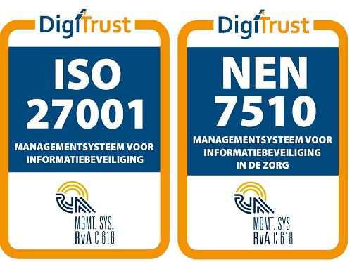 Onze ISO27001 en NEN7510 certificaten zijn weer verlengd